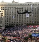 Supporters and opponents of ousted President Morsi protest